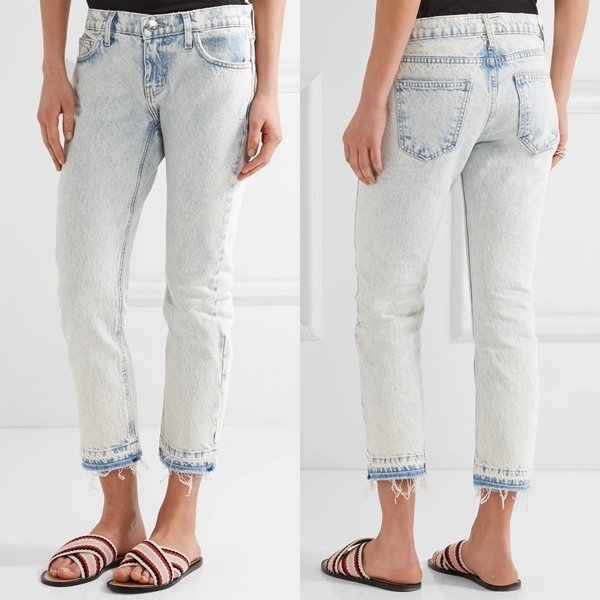 ☆ Current Elliott The Cropped mid-rise straight-leg jeans