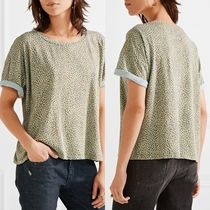 Current Elliott(カレントエリオット) Tシャツ・カットソー ☆ Current Elliott The Roadie leopard-print T-shirt