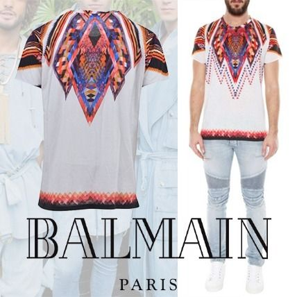 BALMAN Multicolor Cotton T-Shirt