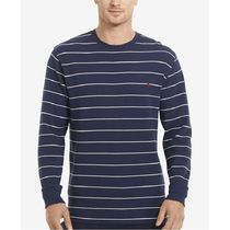 Ralph Lauren(ラルフローレン) ルームウェア・パジャマ Men's Big & Tall Stripe Waffle-Knit Crew-Neck Thermal Top