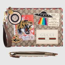 GUCCI(グッチ) バッグ・カバンその他 グッチ Gucci Courrier GG Supreme クラッチポーチ
