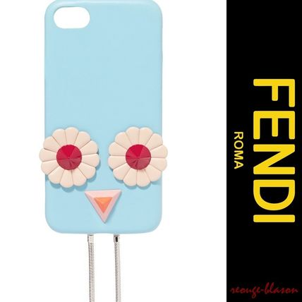 【国内発送】FENDI Blossom appliqued leather iPhone 7 case