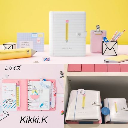 Kikki.K/l size/leather multipurpose Organizer /Letters
