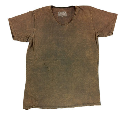 Ouky Vintage Wash T-Shirt Brown Wash オーキー Tシャツ