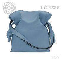 LOEWE★ロエベ Flamenco Knot Bag Stone Blue
