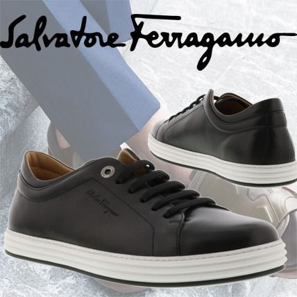Salvatore Ferragamo Newport Leather Sneaker