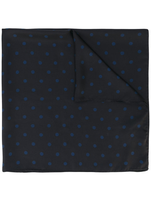 関税送料込み【SAINT LAURENT 】dot print neck scarf スカーフ
