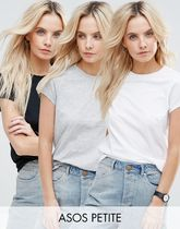 ASOS(エイソス) Tシャツ・カットソー ★ASOS★ PETITE The Ultimate クルー ネック Tシャツ 3 Pack