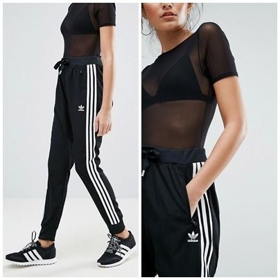 adidas original source drop crotch pants black