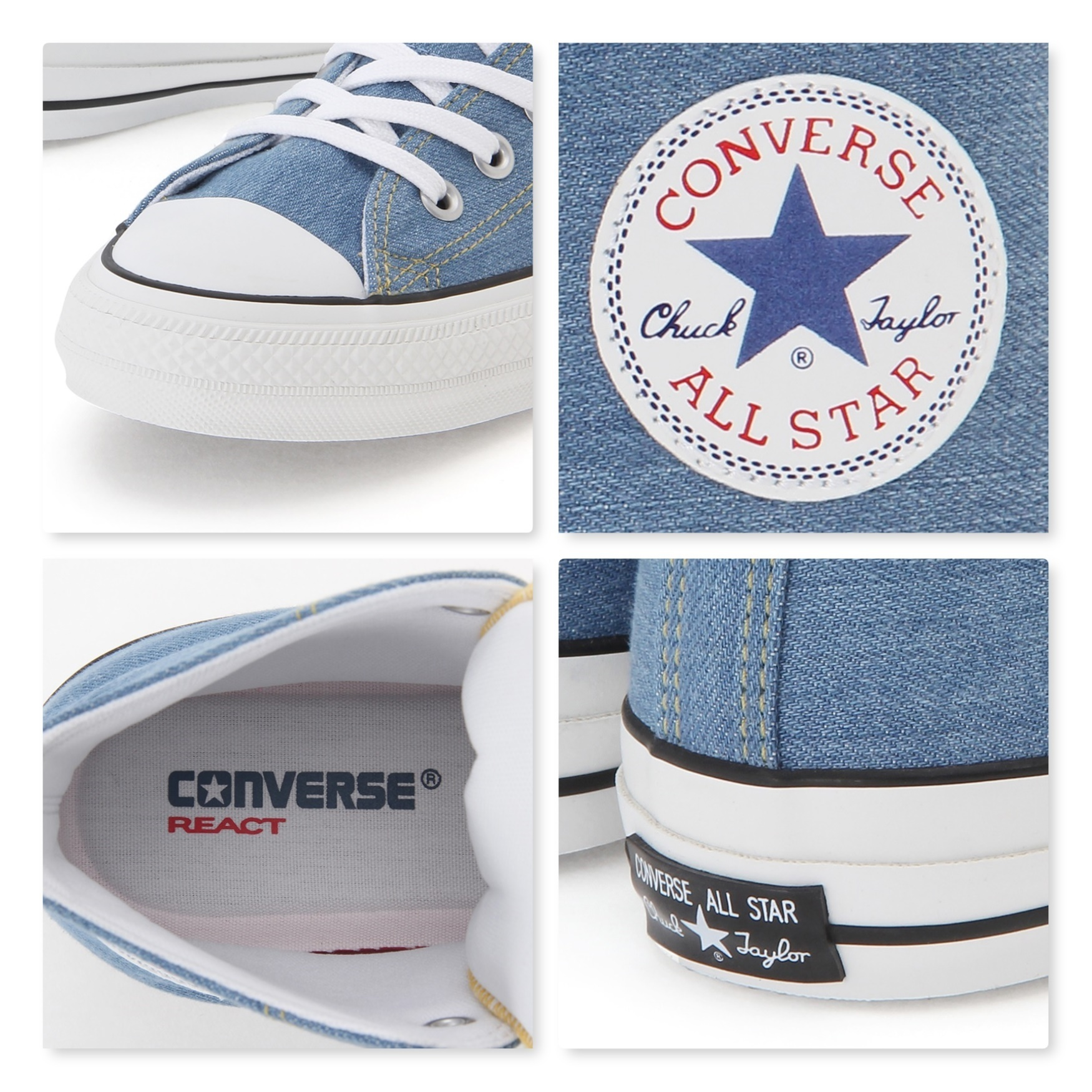 CONVERSE☆ALL STAR 100 夏 爽やか DENIM US WASHED OX デニム