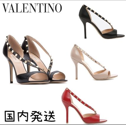 Arch is cute studded VALENTINO rock s Sandals 3 colors