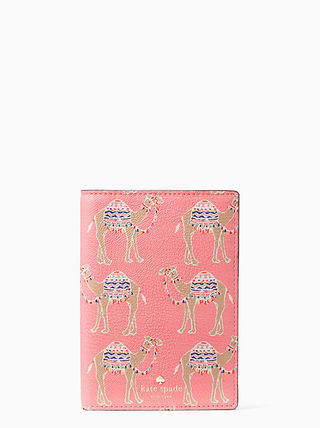 Kate Spade Spice things up camel march passport holder
