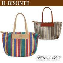 IL BISONTE キャンバストートバッグ A2491..RI TESS.RIGHE