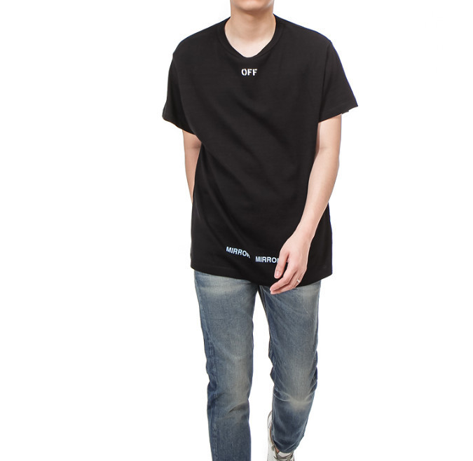 Off-White_正規品  CARE OFF TEE /OMAA002 S17001128 1001