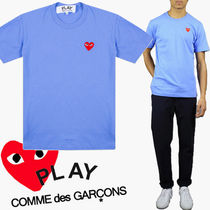 ● COMME des GARCONS PLAY ●ワンポイント Red Heart T ブルー