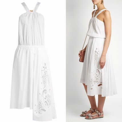 N21★ Broderie-anglaise コットンポプリンワンピ―ス 送関込