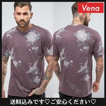 ASOS(エイソス) Tシャツ・カットソー 送料込☆ASOS Oversized T-Shirt With All Over Souvenir Print