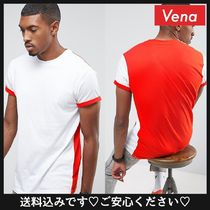 ASOS(エイソス) Tシャツ・カットソー 送料込☆ASOS Longline T-Shirt With Contrast Back