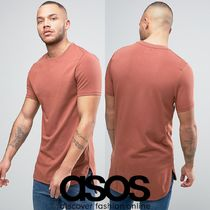 ASOS(エイソス) Tシャツ・カットソー 新作■ASOSロング丈MuscleTシャツCurvedStep