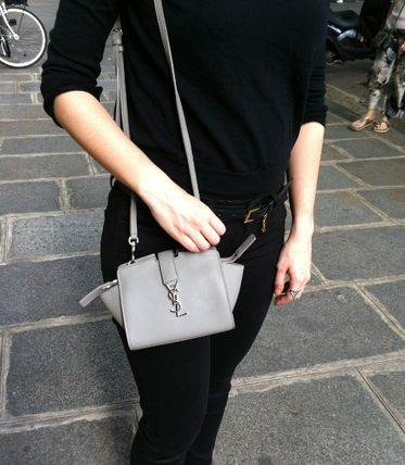 VIP SALE Saint Laurent YSL for Cabas Toy Bag Pearl Grey