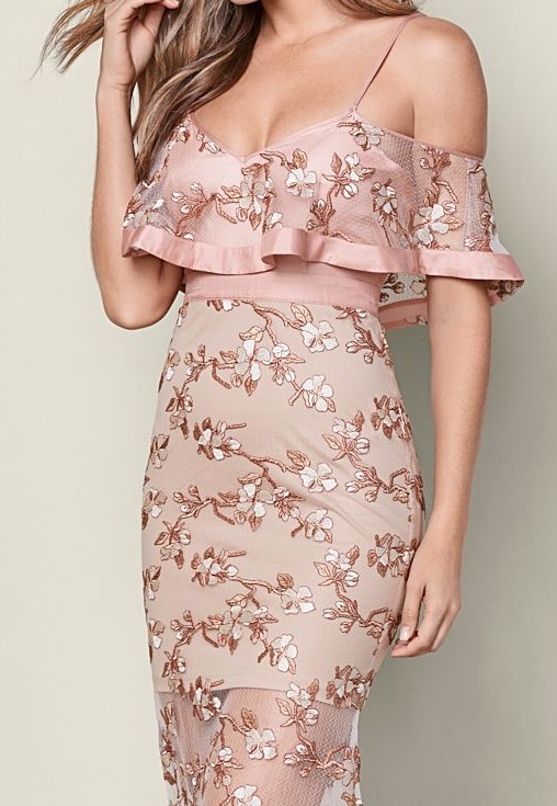 Venus*EMBROIDERED DETAIL DRESS