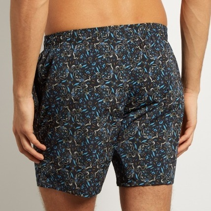 FENDI★フェンディ Garden-print long-length swim shorts