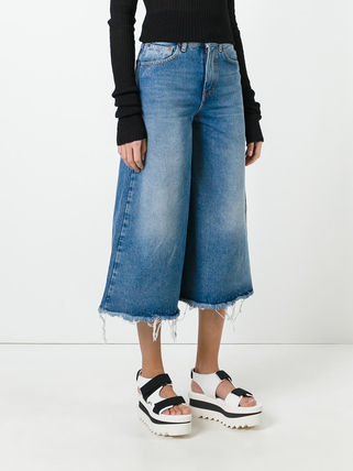 OFF-WHITE  flared cropped jeans デニム 限定セール