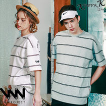 ★WV PROJECT★韓国 Two thin stripe T-Shirt JJST7090【全6色】