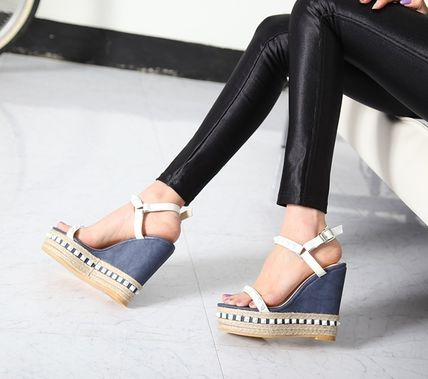All studded with espadrille Sandals soled