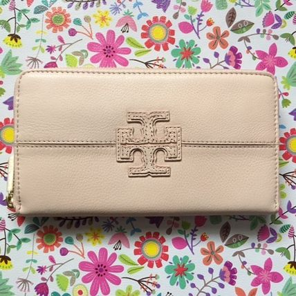 Tory Burch Stacked T Zip Continental Wallet 長財布 ピンク