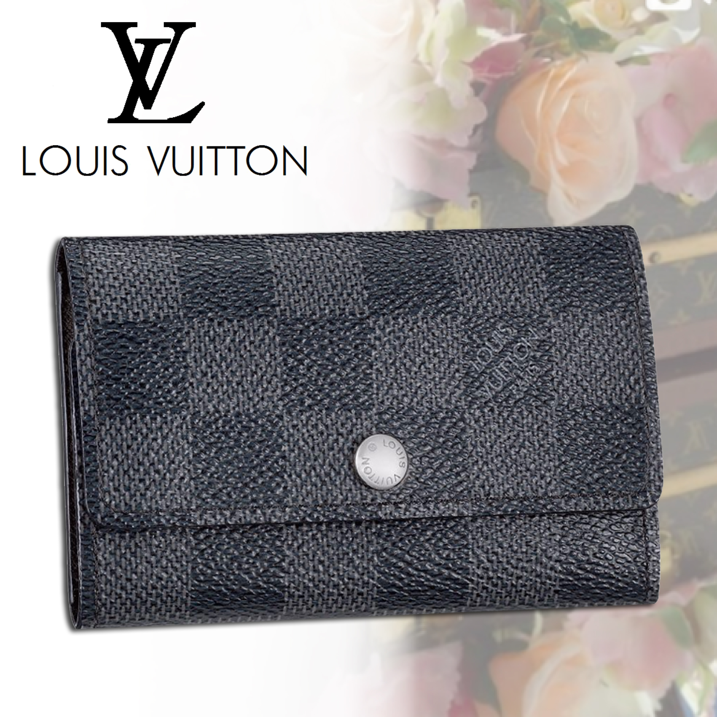 Louis Vuitton ルイヴィトン ダミエ キーケース 国内発送 黒
