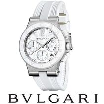 Diamonds ☆BVLGARI☆ DIAGONO Chronograph 37mm 腕時計♪