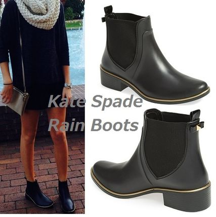 Kate spade classic black boots booties