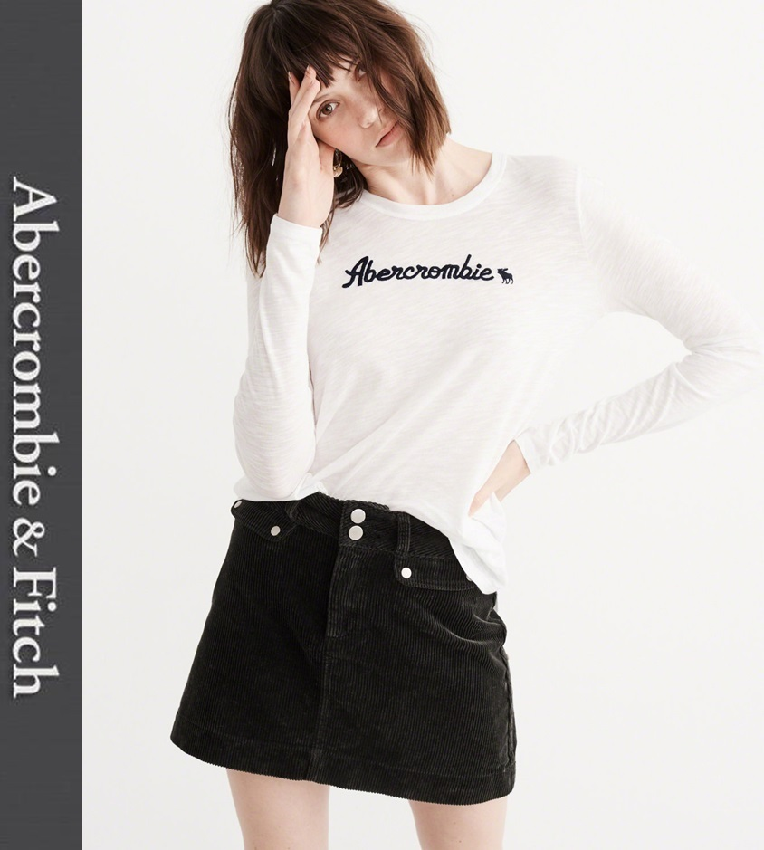 ★即発送★在庫あり★A&F★Long-Sleeve Icon Logo Graphic Tee★