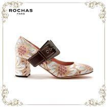 【SALE!17SS】★Rochas★Mary-Jane floral-brocade pumps
