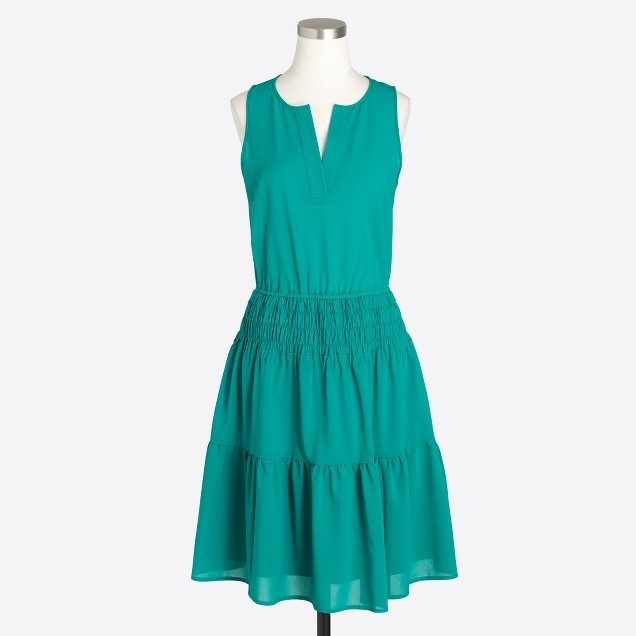 Solid sleeveless tiered dress