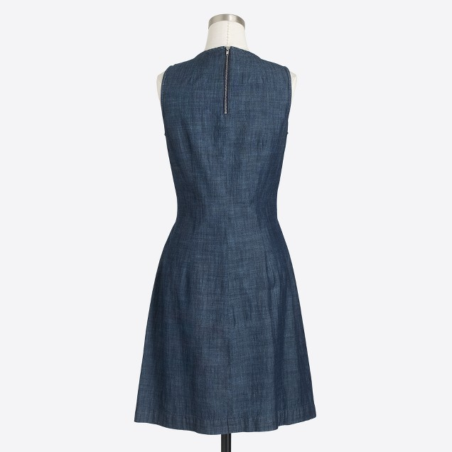 Chambray zip-back dress