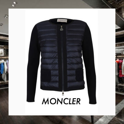 VIPSALE MONCLER down front knit Navy Blue S