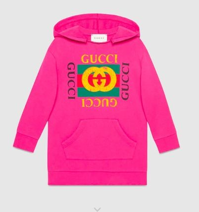 buy online e548e 889a5 大人OK★GUCCI★2017AW★ロゴ入りスウェットパーカー★ピンク