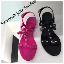 kate spade / Savannah Jelly Sandals (Black/Pink)