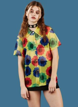 Cute UNIF sold out certain popular ACE BUTTON UP