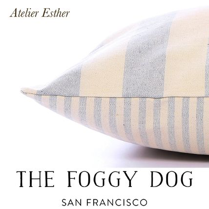 San Francisco発★THE FOGGY DOG★bedcover Wide strips×denim