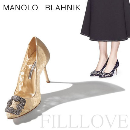 Woman yearning Manolo ▼ featured grace lace popular pumps