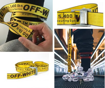 Off-White 17SS popular industrial belt long EMS shipping