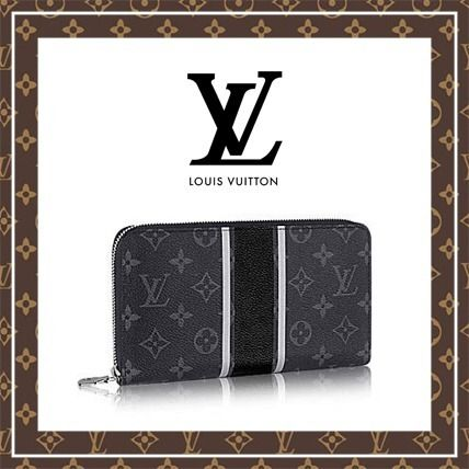 Louis Vuitton 長財布 【17-18AW★ルイヴィトン】ルイヴィトン ロゴ ジッピー長財布