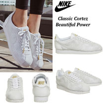 ホワイトxゴールド ◆NIKE◆ Classic Cortez Beautiful Power