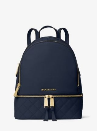 Michael Kors マザーズバッグ 【即発】★Michael Kors★ Medium Quilted-Leather Backpack(2)