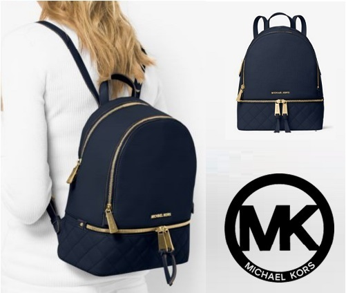 【即発】★Michael Kors★ Medium Quilted-Leather Backpack