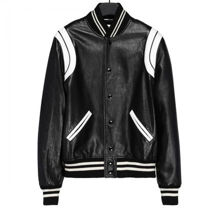Saint Laurent classic leather Teddy jacket black