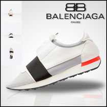 【BALENCIAGA】バレンシアガ Multimaterial contrasted runners